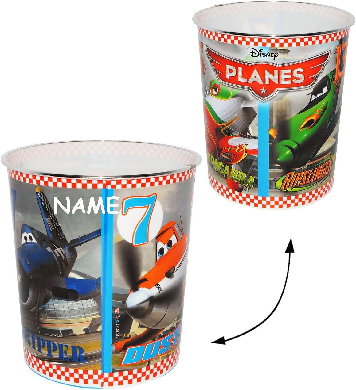 alles-meine.de GmbH Papierkorb Flugzeuge Dusty Name aus Kunststoff Disney Planes incl M/ülleimer Eimer Aufbewahrungsbox f/ür Kinder Jungen // Flugzeuge Chupacabra -..