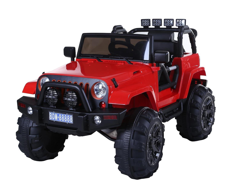 80% de descuento Babycar 0905r – Coche Coche Coche para Niños Jeep Adventure con Mando a Distancia amortiguación y MP3, 12 V, Rojo  autorización oficial