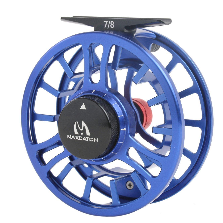 Maxcatch Toro Serie Fliegenrolle CNC gefr/äst Aluminiumlegierung K/örper gro/ße Arbor Fliegenfischen Angelrolle 3//4 Schwarz,Gr/ün,Blau 5//6,7//8wt