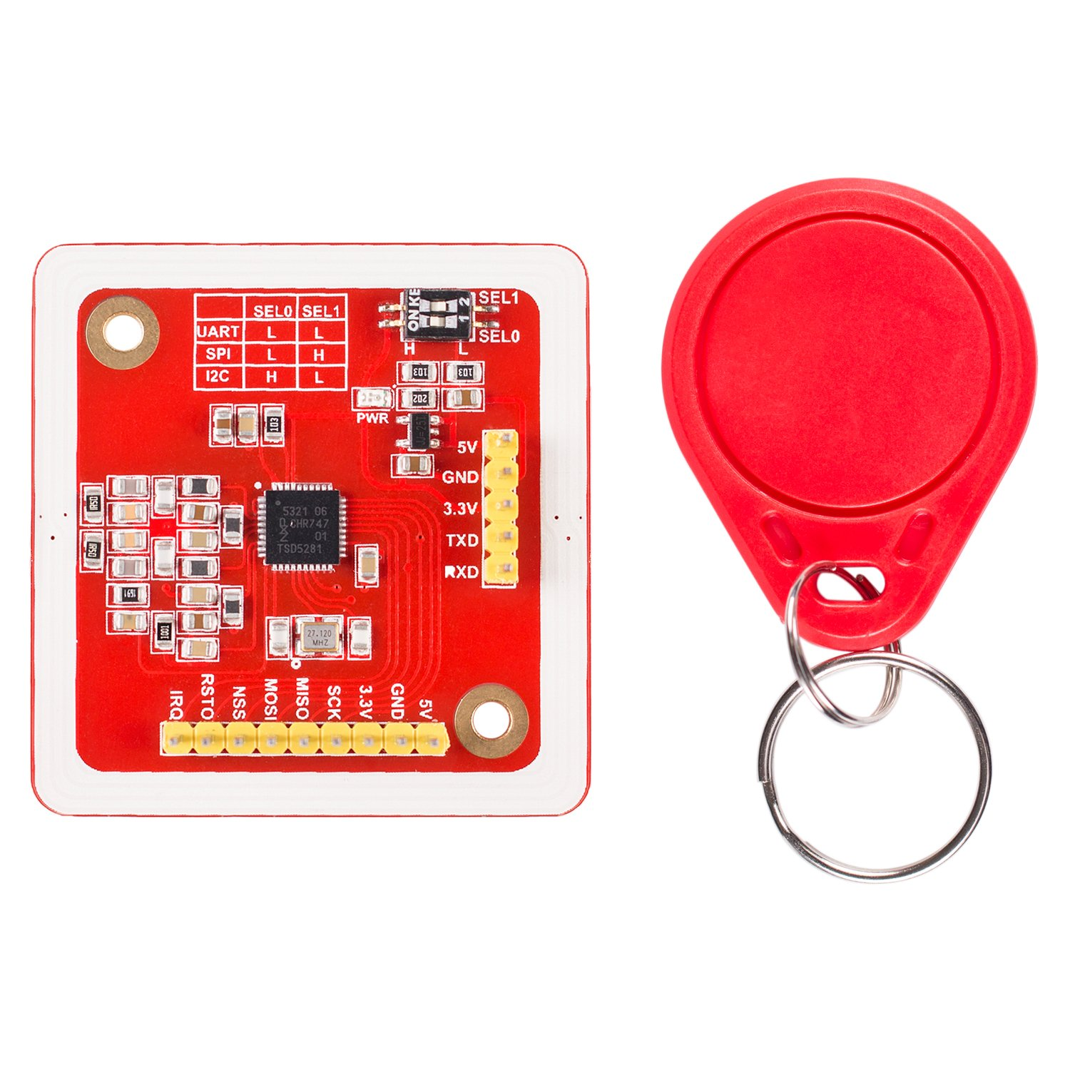 SunFounder PN532 NFC RFID Module Kit Reader Writer with Key Tag for Arduino Android by SunFounder