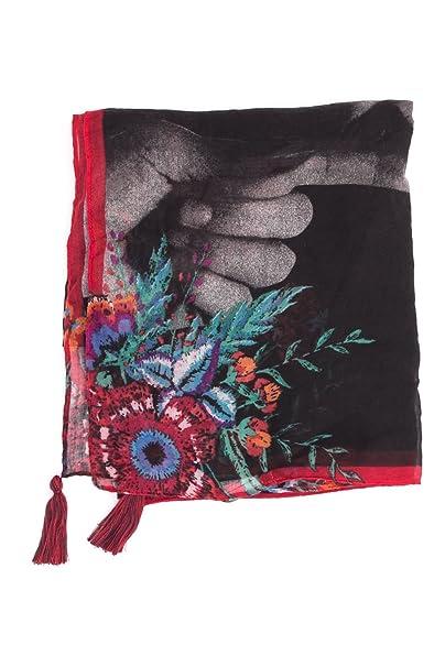 a56b5c99a345 Desigual FEMMES FOULARD FULAR JOALA 18WAWW42 uni noir  Amazon.fr  Vêtements  et accessoires