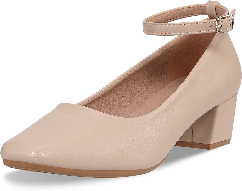 CINAK Low Heel Chunky Heels Dress Shoes