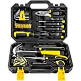 DEKOPRO 40-Piece Tool Set- General Household Hand Tool Kit with Plastic ToolBox Storage