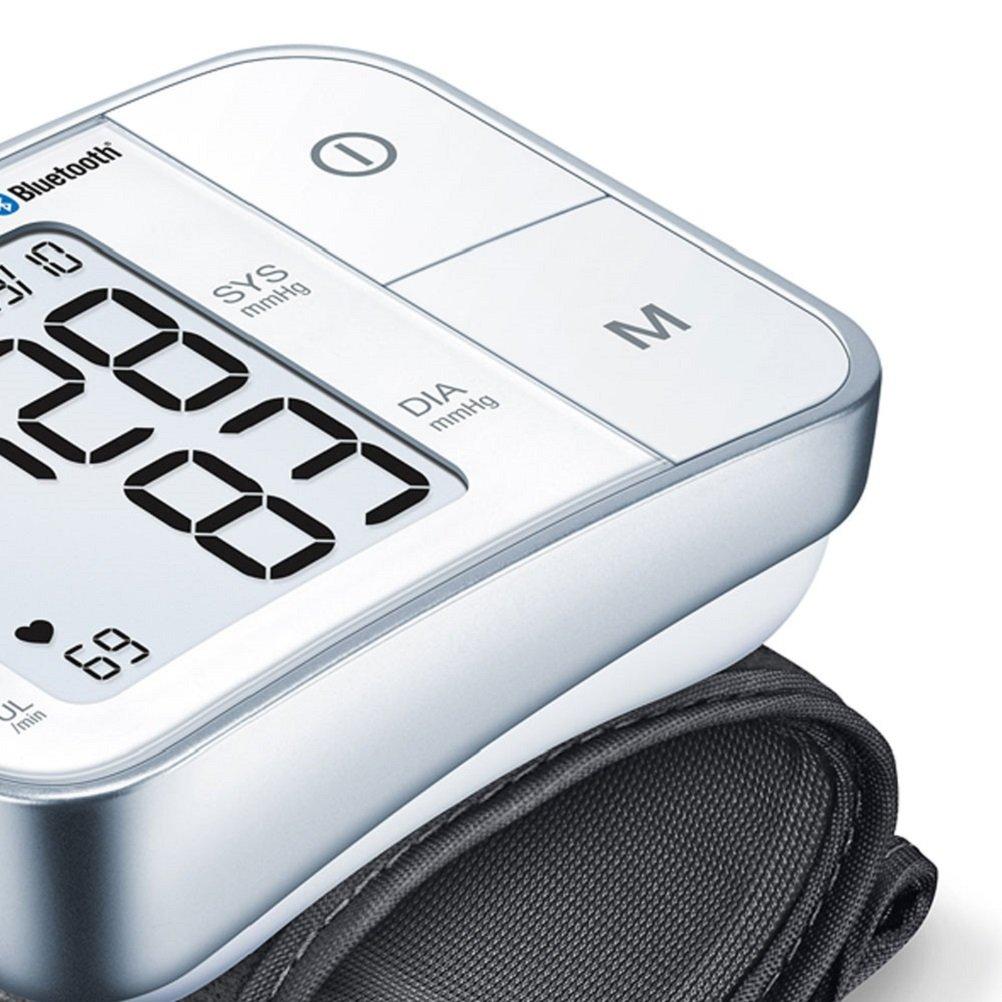 Beurer BC57 Tensiómetro de Muñeca, Blanco, Función Bluetooth, Medición Automática, Aplicación Health Manager: Amazon.es: Salud y cuidado personal