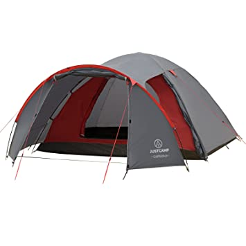 separation shoes ea57c f9835 JUSTCAMP Carson 4 Man Dome Tent with Porch (345 x 245 x 135 cm)