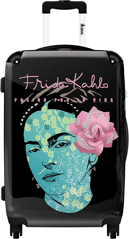 Ikase Hardside Spinner Luggage Frida Kahlo self portrait with rose in hair