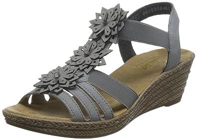 Chaussures à bout ouvert Rieker grises femme WGzh6C8 ... 9007a954b7d3