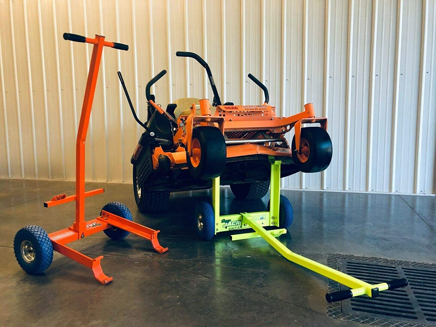 Ballard Inc Super Jack Pro – Mower Jack- ZTR, Stander, Walk Behinds High Vis Orange