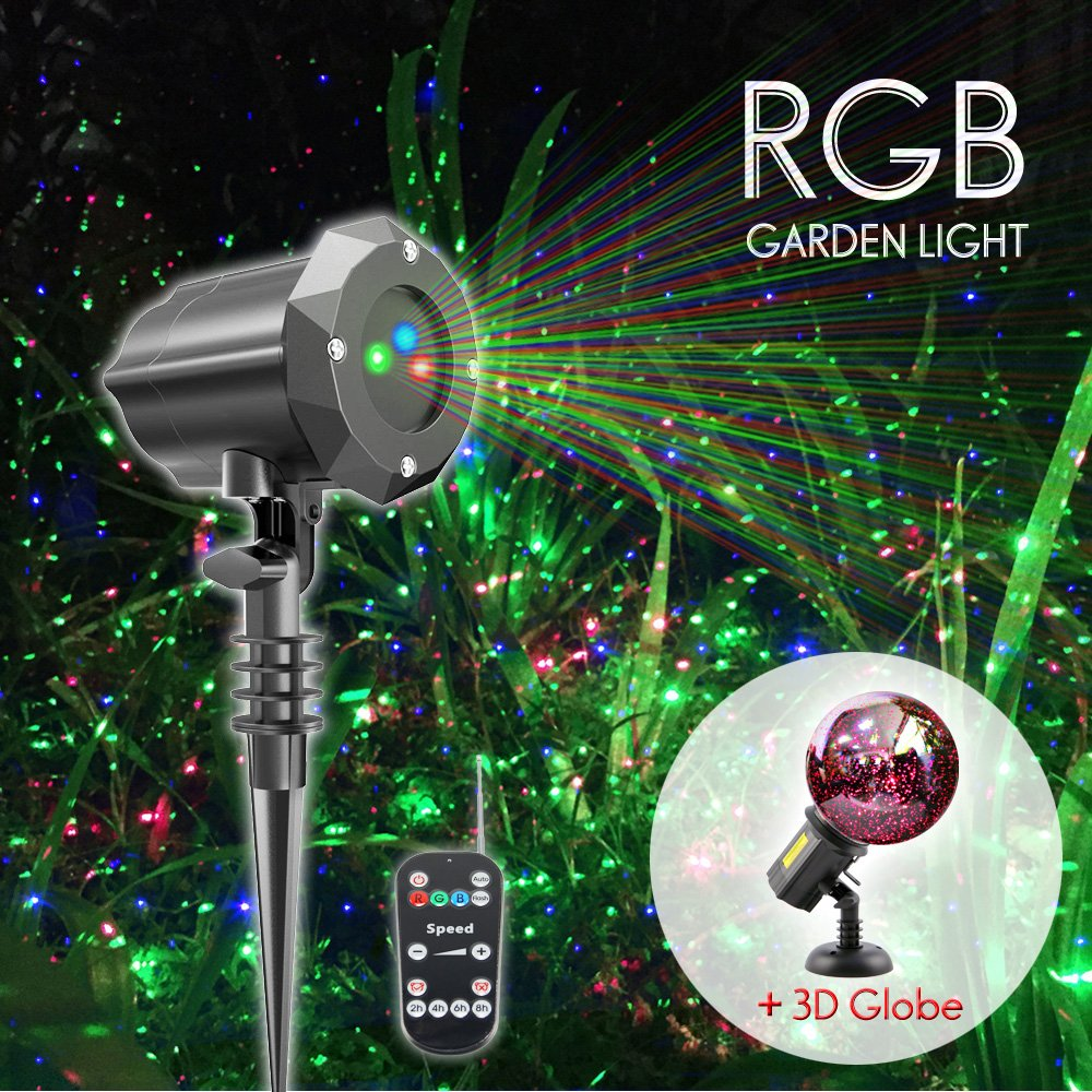 Poeland Laser Christmas Lights Projector with 3D Glass Globe for Christmas and Holiday
