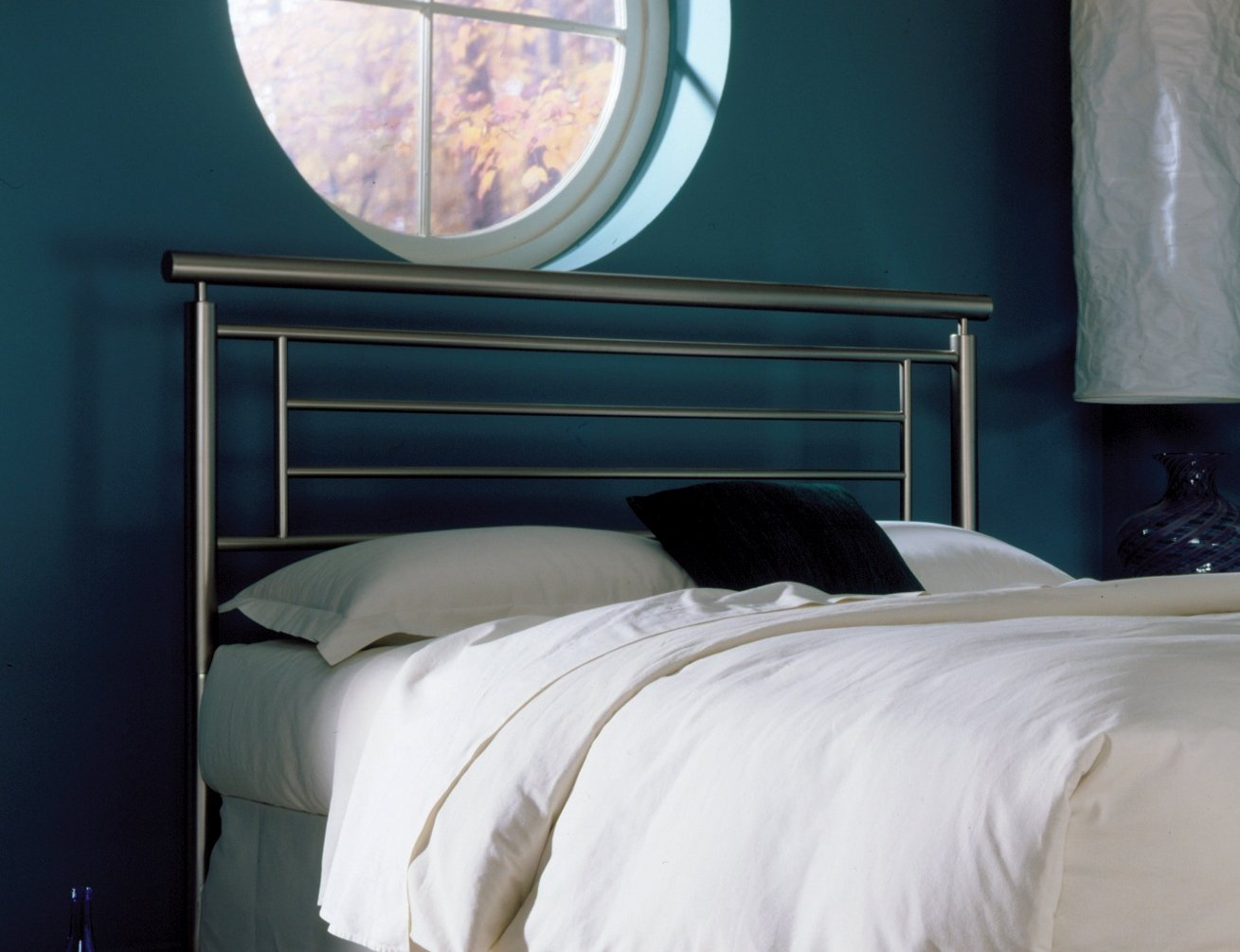 amazoncom chatham metal headboard with rounded top rail satin finish queen fbg chatham metal bed