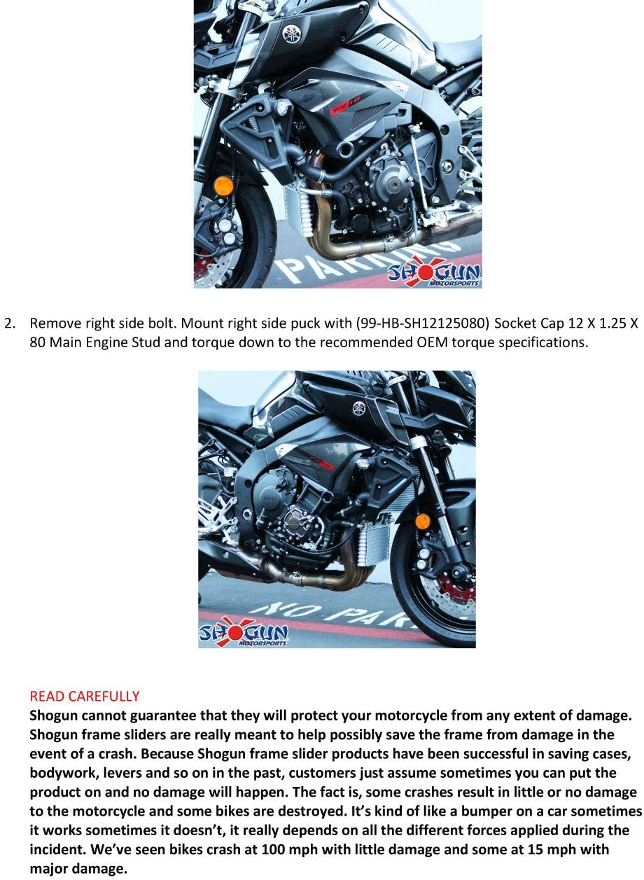 MADE IN THE USA Carbon Fiber Sliders 2017 Yamaha FZ10 2018 Yamaha MT-10 Carbon S5 Swingarm Spools