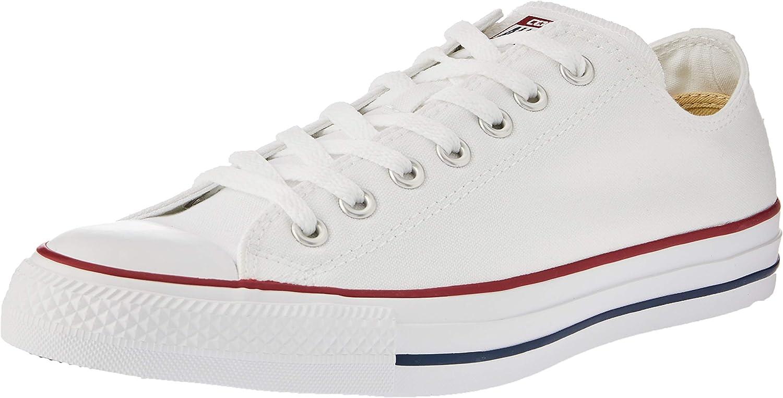 Converse Unisex Chuck Taylor Ox Low Top Shoes (10 B(M) US Women / 8 D(M) US Men, Optical White)