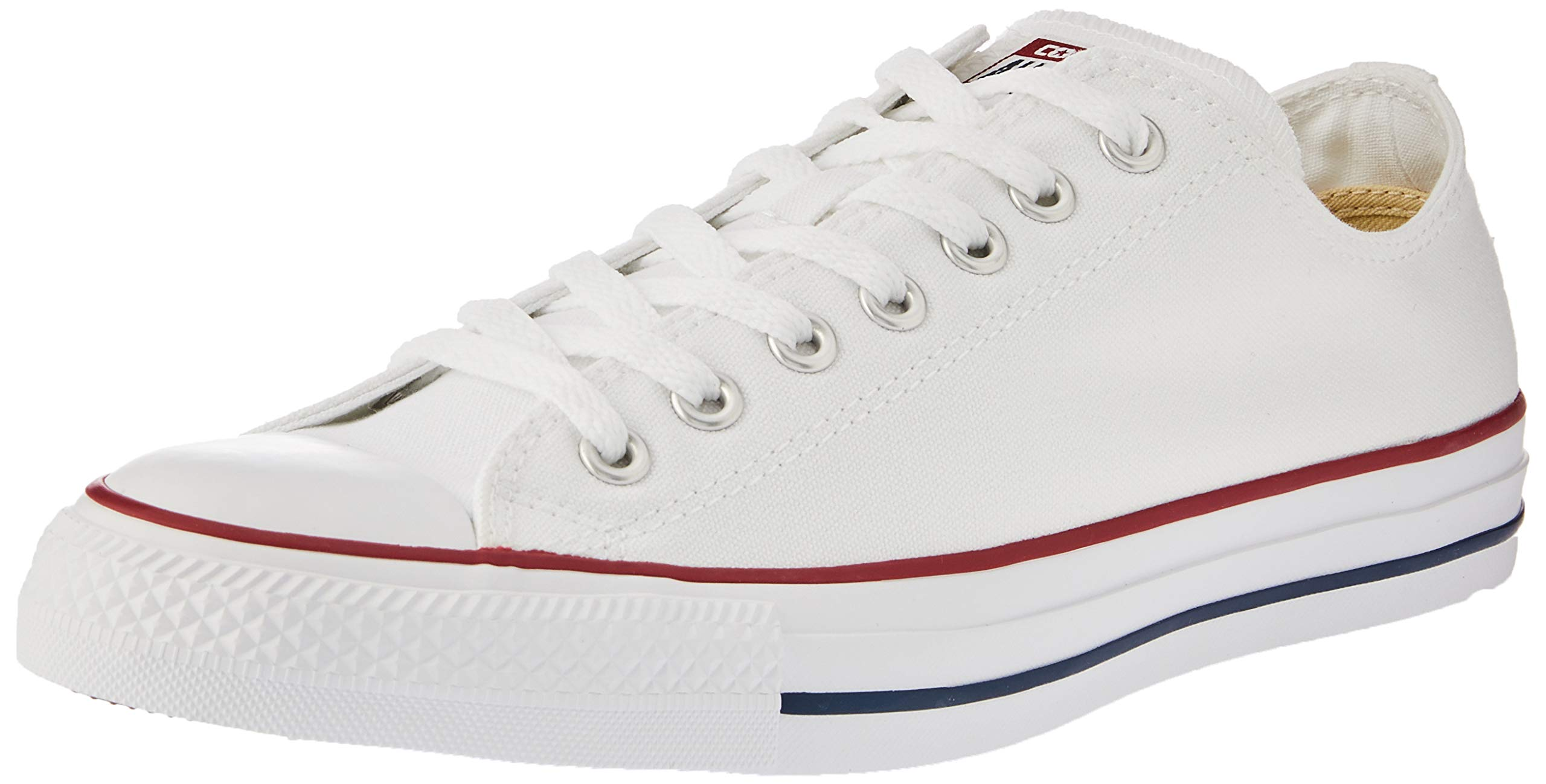 Converse Unisex Chuck Taylor All Star Low Top Optical White Sneakers - 7.5 D(M) by Converse