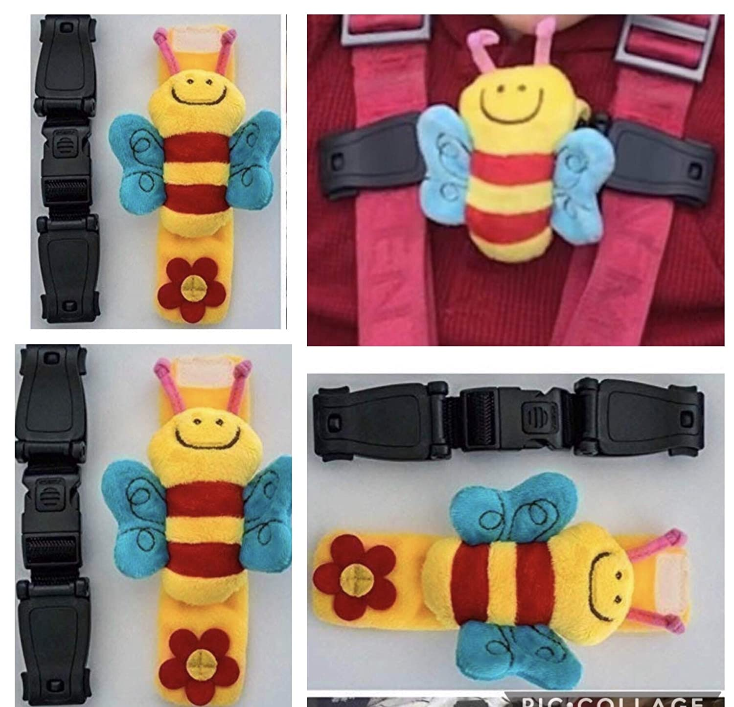 Car Seat Anti Escape Harness Chest Clip No Threading Required Helps Prevent Arms