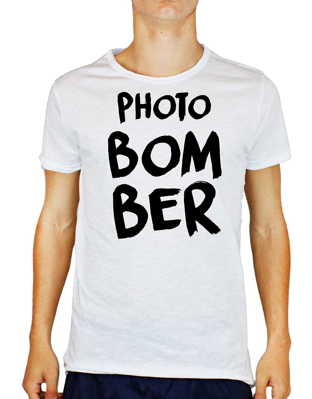 Tshirt Uomo Cotone Fiammato Photo Bomber - Calcio - Sport - Humor - Tutte Le Taglie by Tshirt Uomo Cotone fiammatoeria t-shirteria
