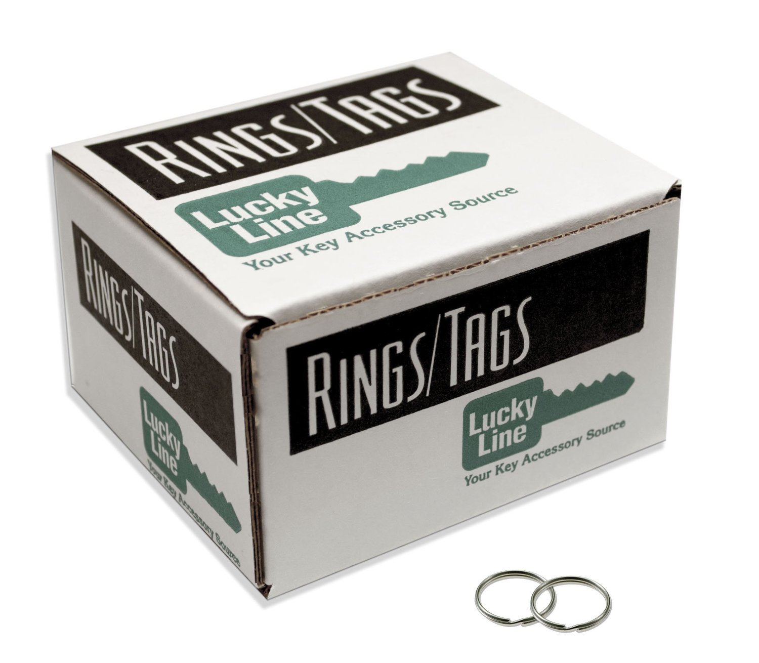 Lucky Line 3'' Nickel Plated Split Ring; 25 per box (79100)