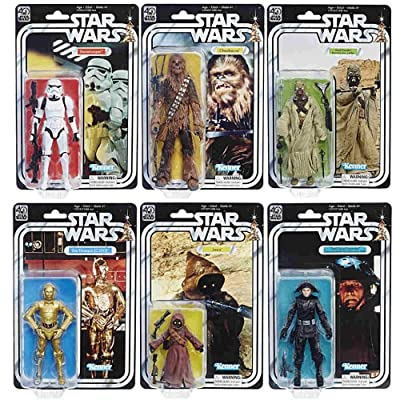 Star Wars The Black Series 40th Anniversary 6 Inch Figures WAVE 2 SET: Toys & Games