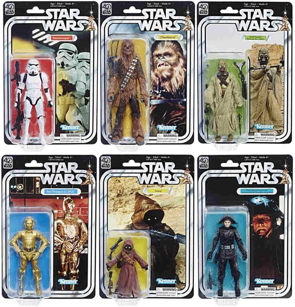"Neuf Star Wars Stormtrooper C-3PO 40th Anniversaire Wave 2 complete set 6/"" figures"