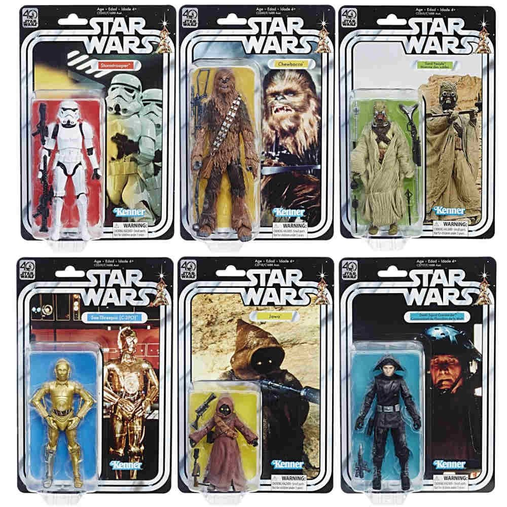 Star Wars 40th Anniversary Black Series Wave 2 Figure Set x 6