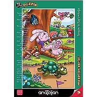 Anatolian 15 Parça Tavşan İle Kaplumbağa Çerçeveli Yapboz