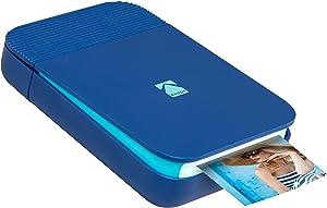 Zink KODAK Smile Instant Digital Printer – Pop-Open Bluetooth Mini Printer for iPhone & Android – Edit, Print & Share 2x3 ZINK Photos w/FREE Smile App – Blue