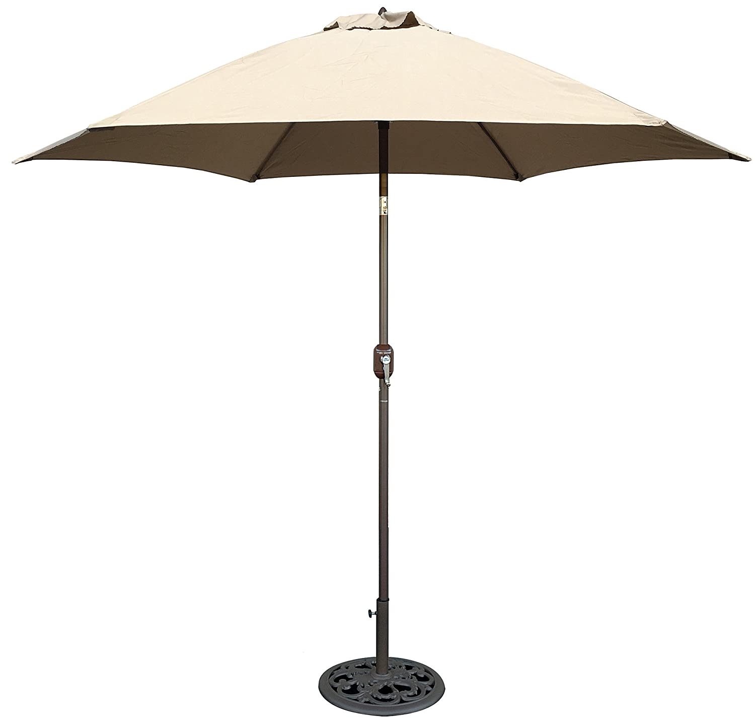 Amazon.com  Tropishade 9 ft Bronze Aluminum Patio Umbrella with Beige Polyester Cover  Patio Umbrellas  Garden u0026 Outdoor  sc 1 st  Amazon.com : aluminum patio umbrella - thejasonspencertrust.org