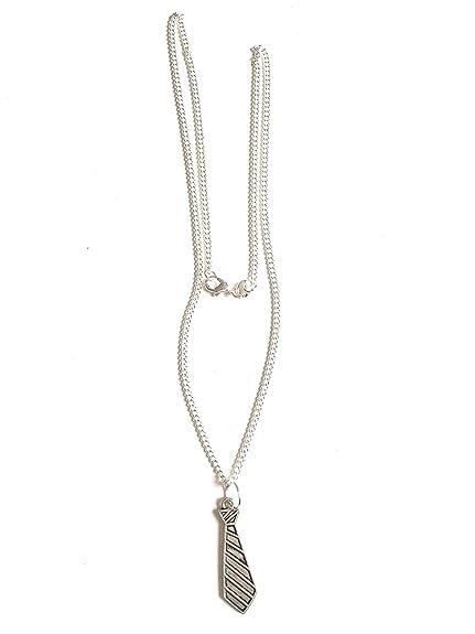 Corbata-Collar con colgante, color plata, inspirado en 50 tono ...