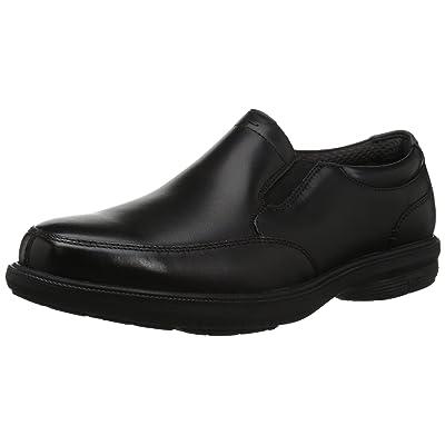 Nunn Bush Men's Martone Moccasin Toe Slip On Loafer with KORE Comfort Technology, Black, 9 Medium US: Shoes