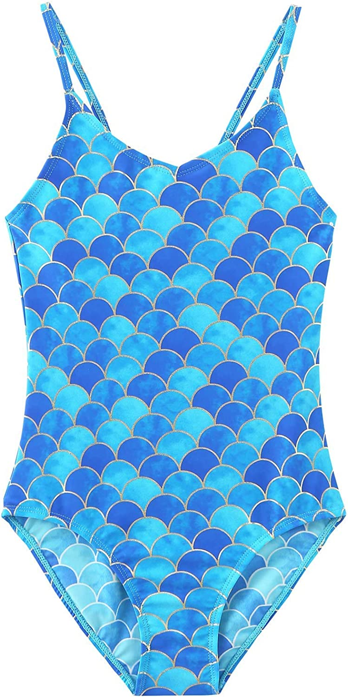 Girls One Piece Swimsuits Hawaiian Swimwear Beach Bathing Suit
