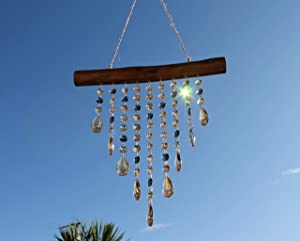 Hanging Window Suncatcher Rainbow Maker. Glass Crystal Mobile Wind Chime. Sun Catcher Chandelier Pendants for Prisms. Magic Boho Prismatic Wall Décor or Gift