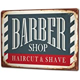 Tin Sign XXL metal plate plaque Nostalgic Barbershop