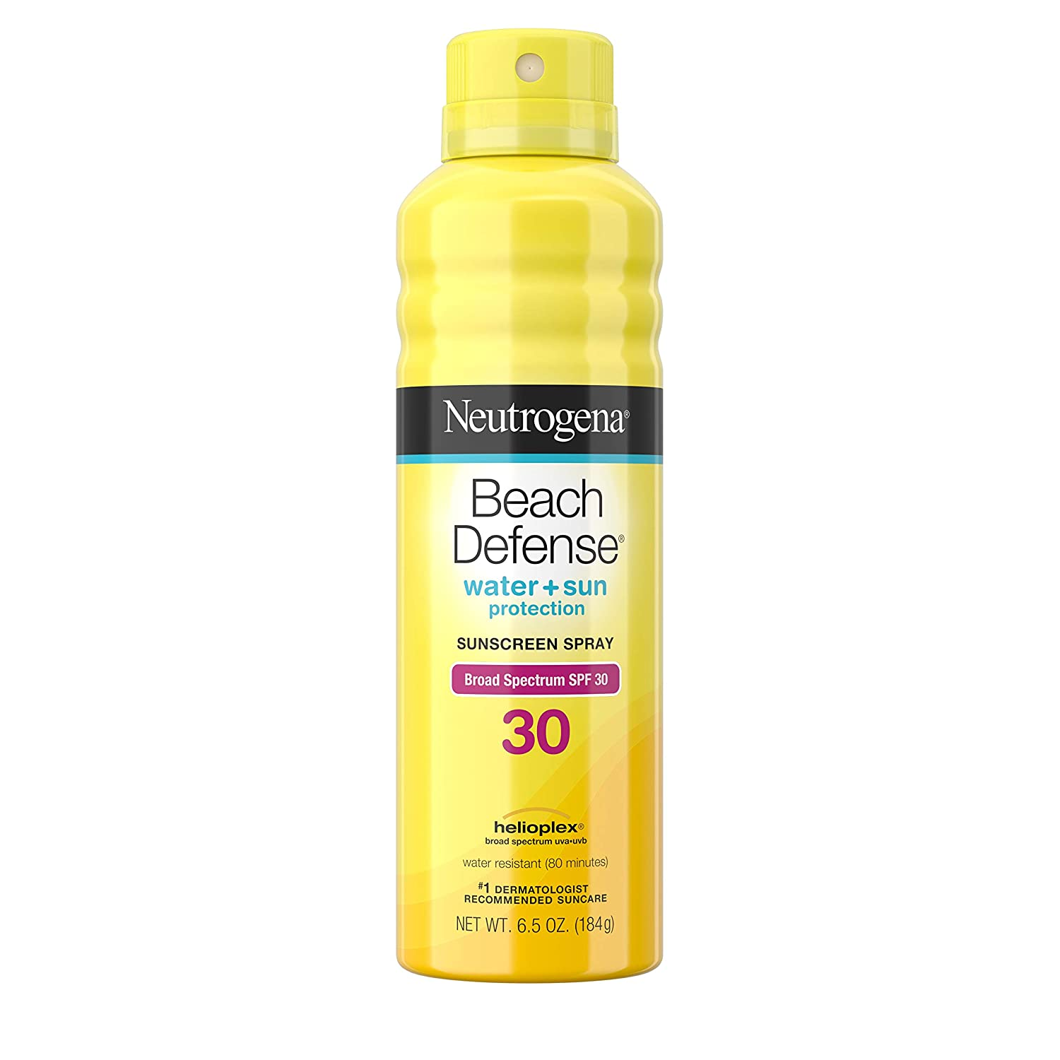 Neutrogena Beach Defense Water-Resistant Sunscreen Body Spray with Broad Spectrum SPF 30, PABA-Free, Oxybenzone-Free & Fast-Drying, Superior Sun Protection, 6.5 oz ( Pack of 3)