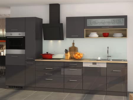 Küchenzeile Küche Einbauküche Küchenblock Küchen-Set Kochnische ...