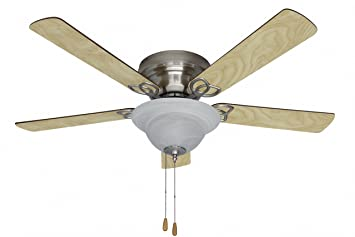 Litex ac52bnk5c1 ascot 52 inch brushed nickel finish ceiling fan litex ac52bnk5c1 ascot 52 inch brushed nickel finish ceiling fan with five reversible ash aloadofball Image collections