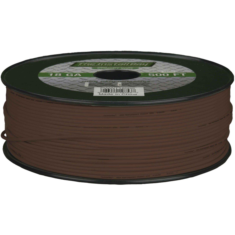 Install Bay PWOR18500 Primary Wire 18 Gauge, 500-Feet Orange () Metra Electronics Corporation