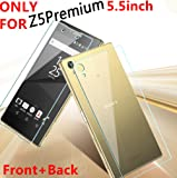 For Z5 Premium 5.5inch,DAYJOY Premium Tempered Glass Screen Protector film Cover 9H Hardness knife proof Water and Oil proof for SONY XPERIA Z5 Premium (1PC FRONT+1 PC BACK)