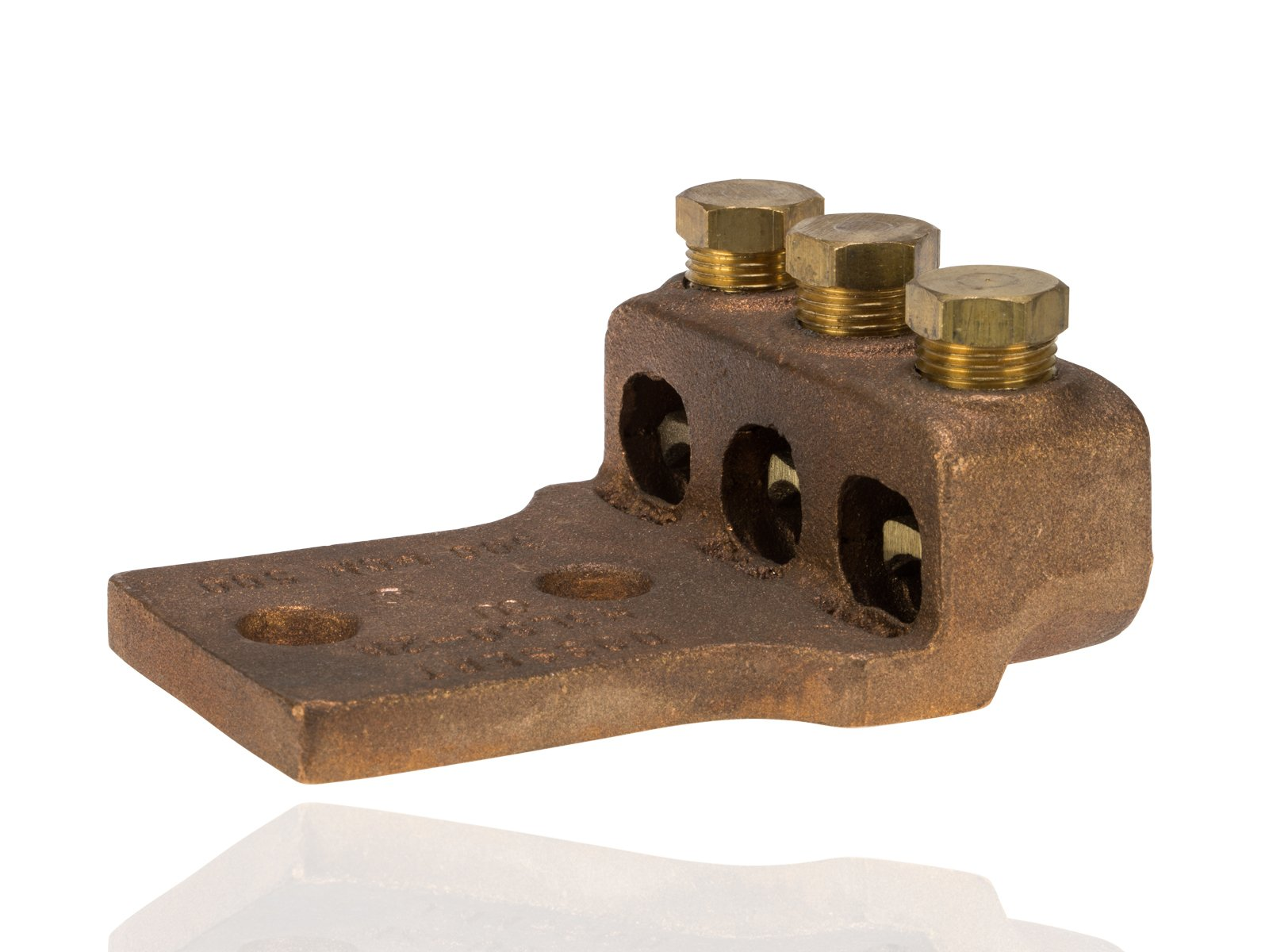 Split Bolt, Post and Tap Connector, Type TL Copper and Cast Bronze Terminal Lug, 300 MCM - 500 MCM Wire Range, 1/2'' Bolt Hole Size, 2 Holes, 1200 Amp Nec, 3.625'' Width, 1.5'' Height, 4.5'' Length by NSI