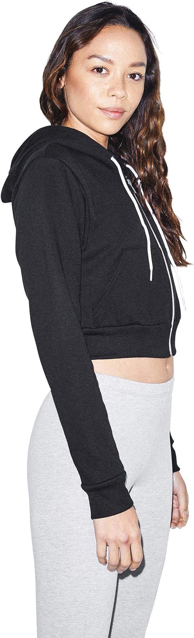 Women Long Sleeve Rolled Hoodie Sweatshirt Top with Pocket Sun Palm Trees