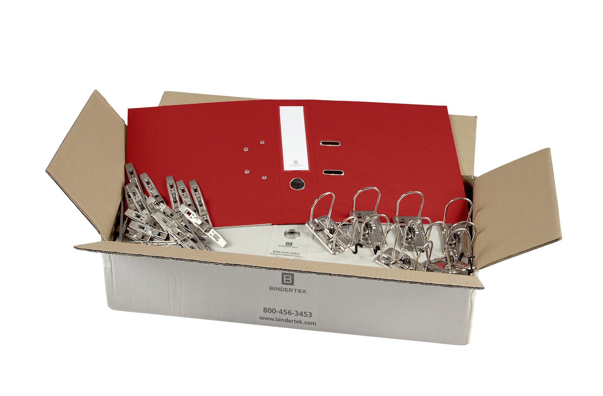 Bindertek 2-Ring 3-Inch Unassembled Premium Binder Packs, Red