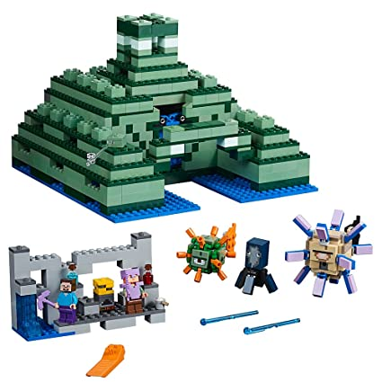 c564bbcc01bf15 Amazon.com: LEGO Minecraft The Ocean Monument 21136 Building Kit ...