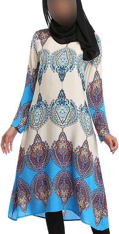 Hzjundasi musulmán Mujer Gradiente Color Impresión Medio ...