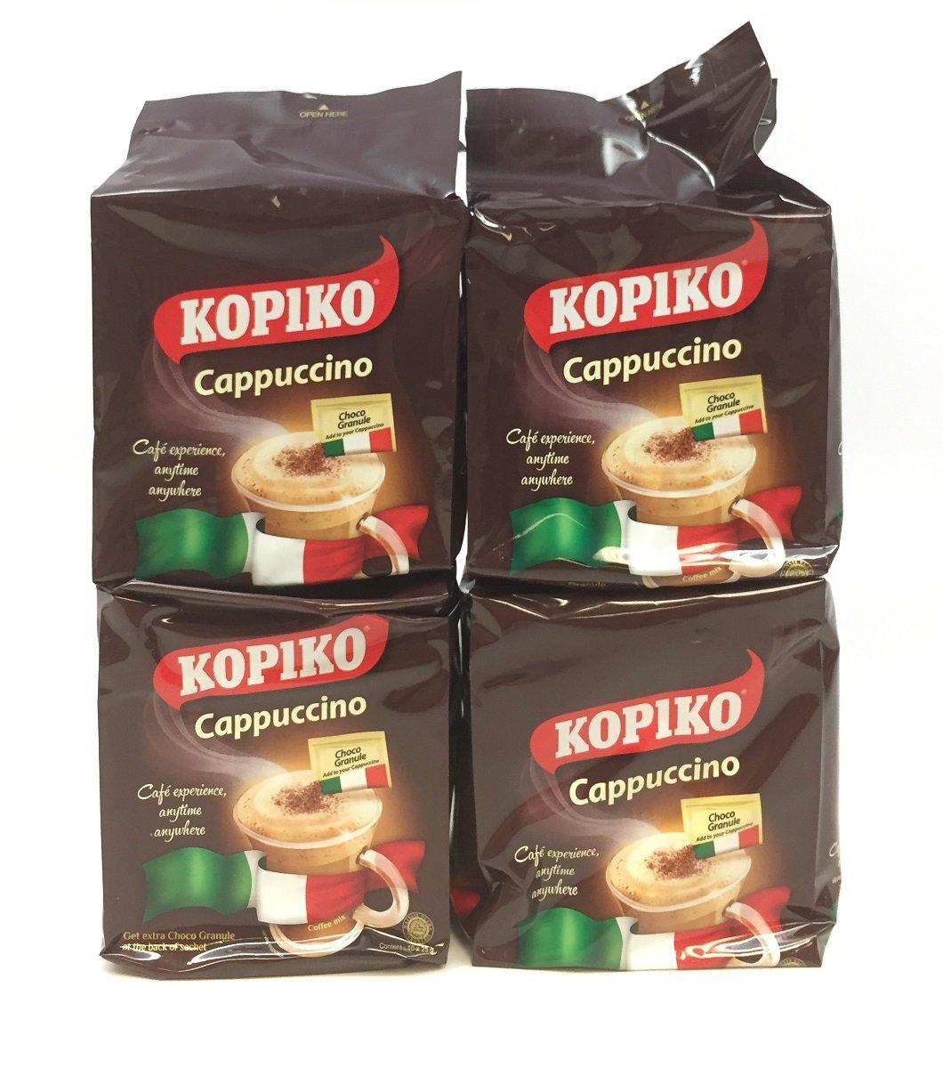 Amazon Com 4 Kopiko Cappuccino With Choco Grabules Instant Coffee 4 Pack X 10 Sachets Kopiccino Grocery Gourmet Food