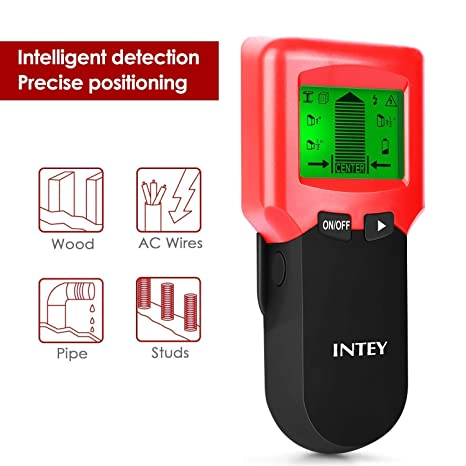 INTEY Detector de Pernos 3 en 1 Buscador de Pernos para Paredes AC Alambre Detector Madera