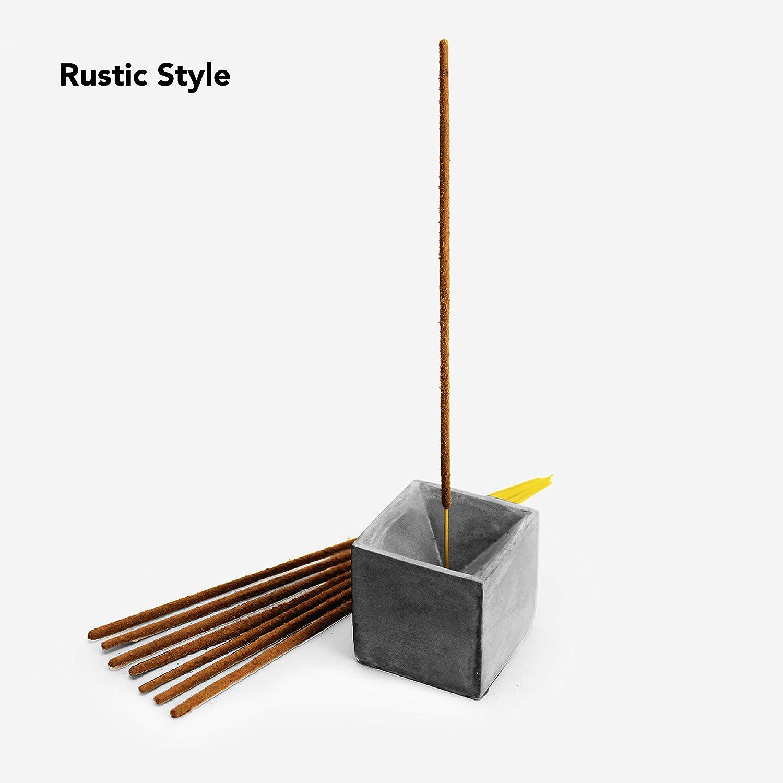 Mix metal upright Concrete Incense Holder  Upright Burner Geometric Design Home Accent Modern  Minimal