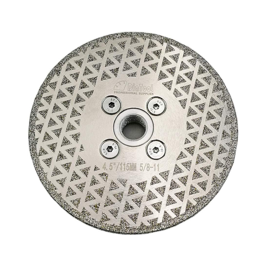 Disco De Diamante Shdiatool Pulido De Corte Galvanizado De 4 5 Pulg. Para De 5/8-11 Arbor De Un Solo Recubrimiento Para