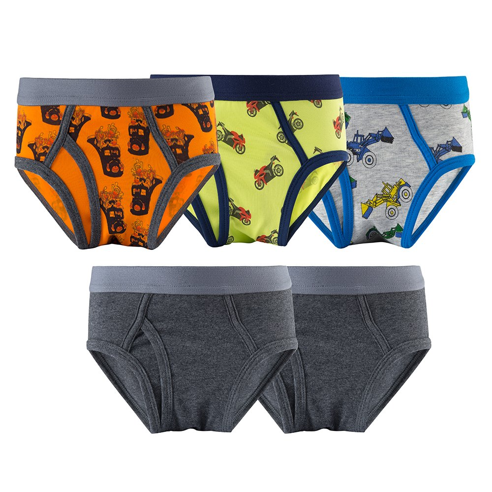 B.GKAKA Boys Briefs Toddler Solid Color Kids Underwear 5 Pack