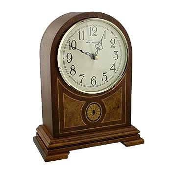 Wbl Horloge A Quartz De Cheminee En Bois De Style Westminster Cadran