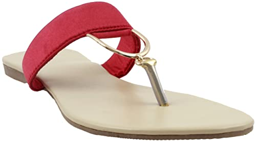 42d561379fc2 Karat Gold women Sandal - Red  Buy Online at Low Prices in India ...