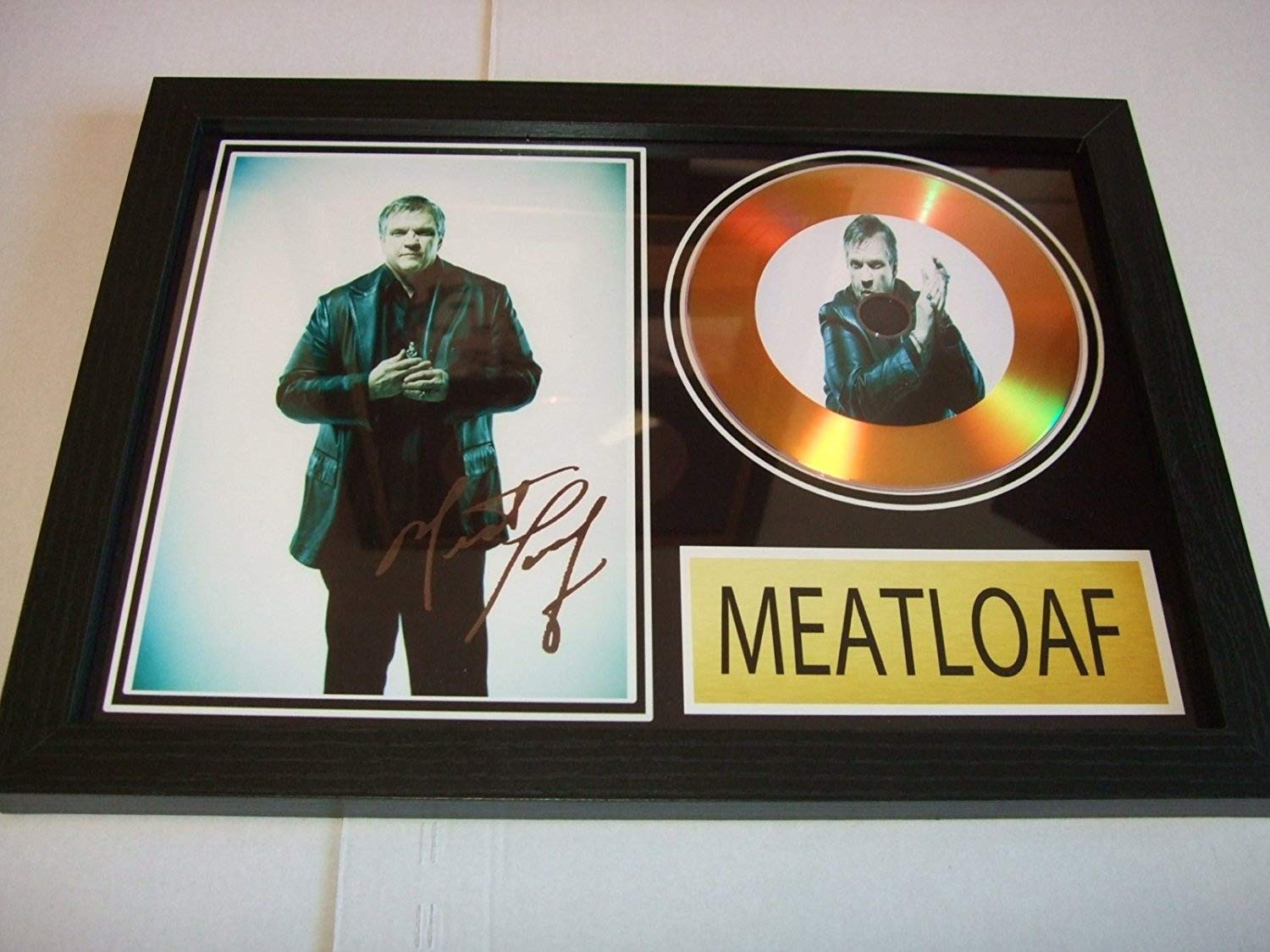meatloaf signed gold disc home disc