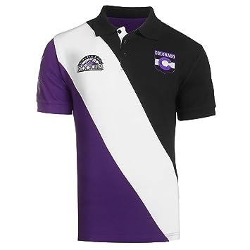 FOCO MLB - Polo de Rugby de algodón con Rayas diagonales para ...